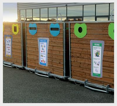 Vente de conteneurs d chets et bacs roulants sep for Conteneur bois